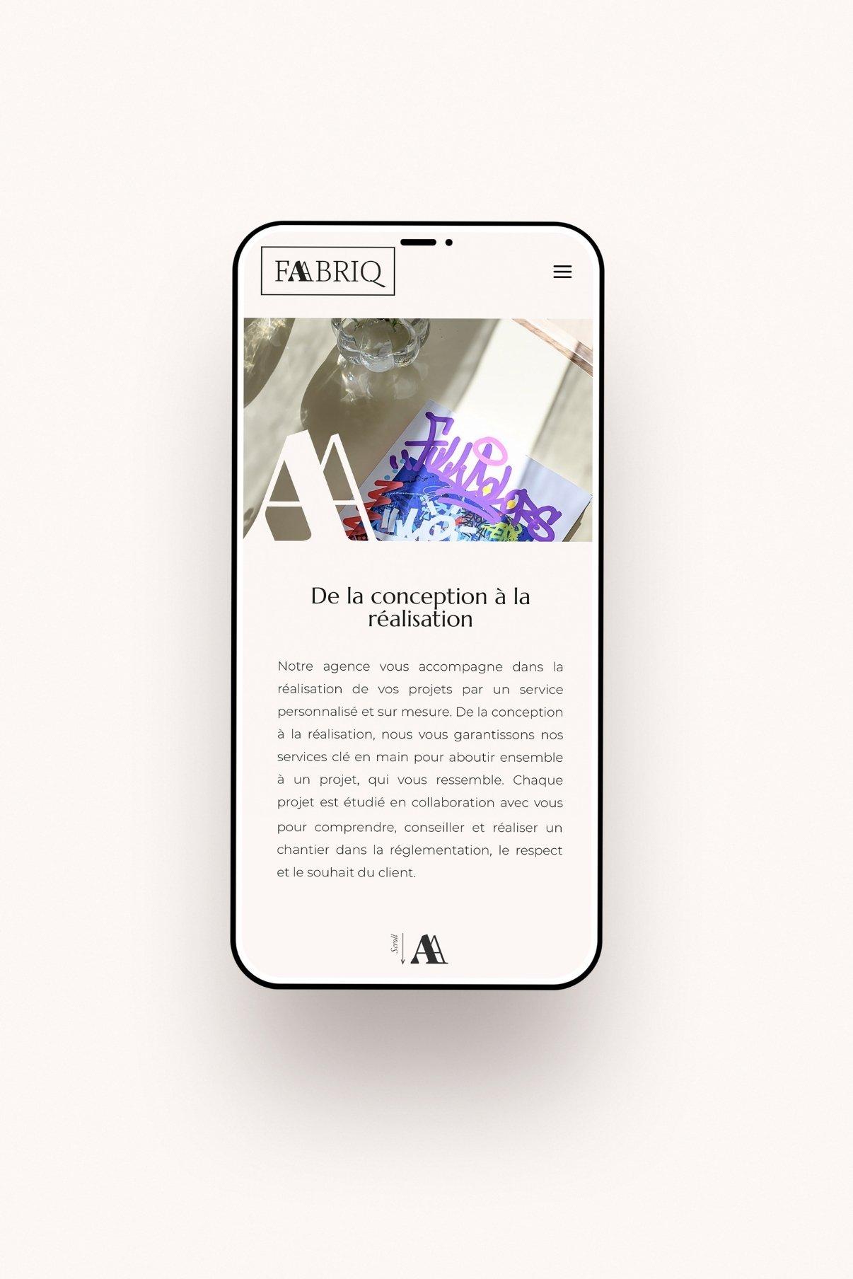 Création du site web de l'agence Faabriq